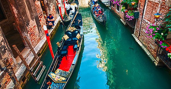 Canal Colors, Venice, Italy. Travel the world with Private Jet Charter. Charter