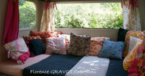 int rieur de la caravane vintage camper my home ma maison pinterest camping vintage. Black Bedroom Furniture Sets. Home Design Ideas