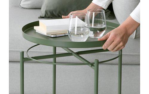 gladom tabletttisch dunkelgr n tabletttisch ikea und schwestern. Black Bedroom Furniture Sets. Home Design Ideas