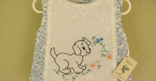 Vintage embroidered linen repurposed to childs shirt