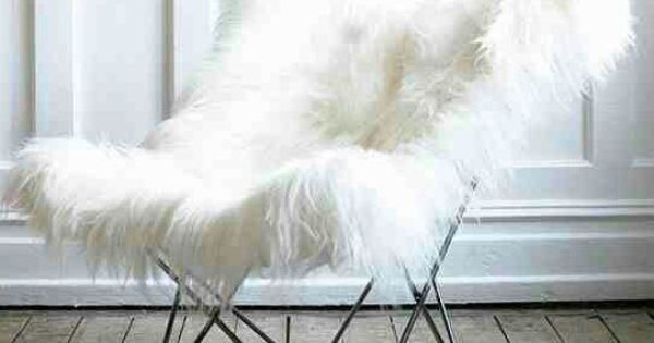 White Fuzzy Butterfly Chair ḺỚv℮ ‿ ̶̥̥ Mod Wishes