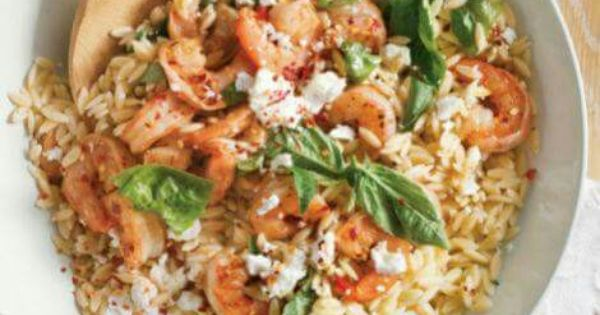Shrimp, Orzo & Feta | Seafood | Pinterest | Shrimp Orzo, Orzo and Feta