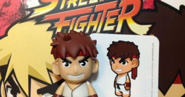 Street Fighter KidRobot Mini Figures Ken Blue 1//20 Rarity