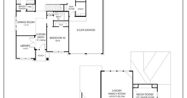 Perry Homes Floor Plan For 3546W