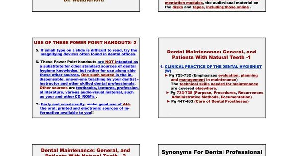 Dental Maintenance Phase #Patients With #Teeth And/Or Implants - technical evaluation
