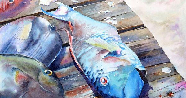 Akvarel Aquarelle Watercolor Paintings Easy Art