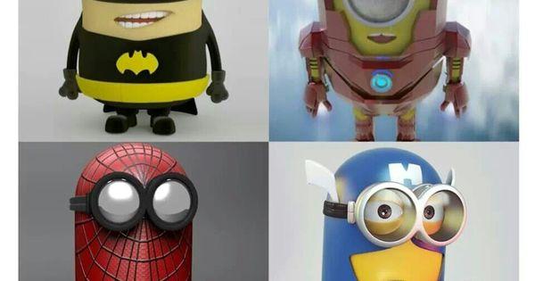 Amigurumi Minion Superheroes : Minion Super Heros Batman/Batgirl