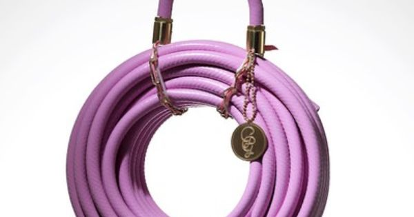 Yes, this is a pink garden hose! Glamorous!