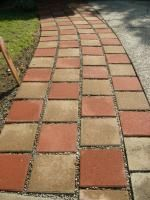square red concrete patio stone common