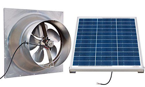 Gable Mounted Solar Attic Fan 60 Watts 3100 Sq Ft Visit The Image Link More Details Note It S An Affili Solar Attic Fan Attic Fan Solar Panels For Home