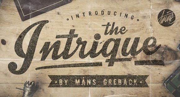Intrique Script – inspired by the vintage typeface