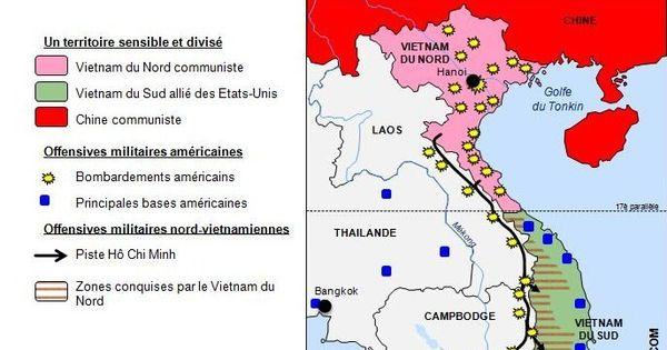 carte de la guerre du vietnam 1963 1975 source histgeographie com vietnam pinterest. Black Bedroom Furniture Sets. Home Design Ideas
