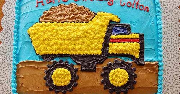 Surprising Truck Cake Ideas Construction Cake Ideas Kids Birthday Cakes Personalised Birthday Cards Veneteletsinfo