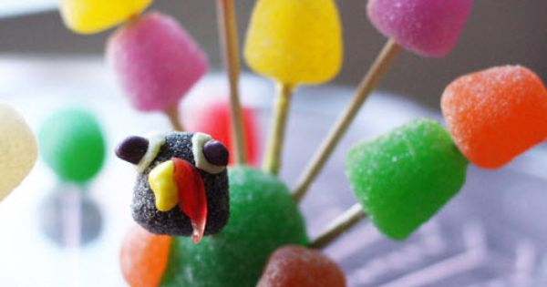 gumdrop turkey craft | Gumdrop turkeys