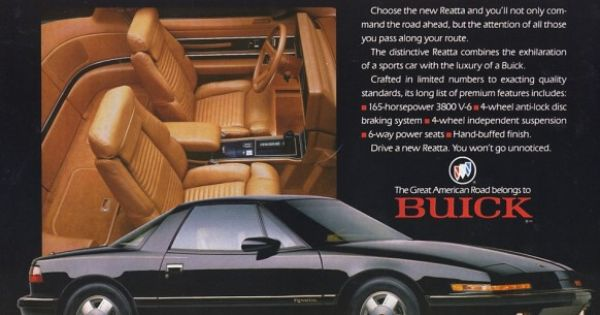 Flash Back The Buick Reatta And Its 16 Way Power Seats