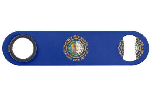 New Hampshire State Flag Design Bar Key Zazzle Com Bar Design Flag Design New Hampshire