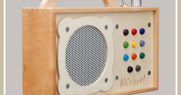 Hörbert MP3 Player for kiddos! Wooden mp3 doc $300 hoerbert.com