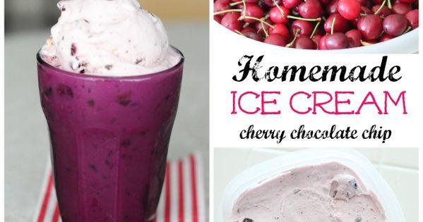 Cherry Chocolate Chip Ice Cream Recipe | Chocolate Chip Ice Cream ...