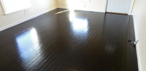 How To Paint Wood Floors With Images Painted Wood Floors