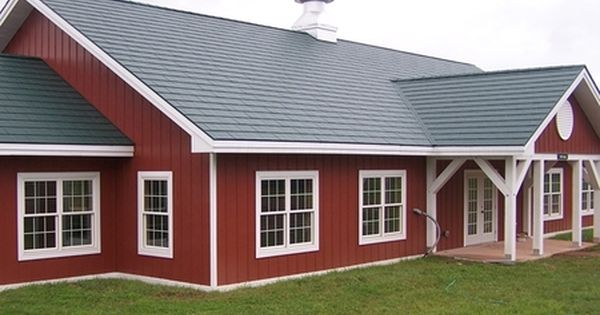 Red Siding House Photos Standard Metal Shake Hartford Green With Steel Siding Classic Red Exterior House Colors Steel Siding House Exterior