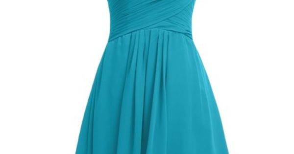 Gorgeous Bridal Women's Chiffon One Shoulder Short Dress - http://www.weddinglota.com/gorgeous-bridal-womens-chiffon-one-shoulder-short-dress-2/