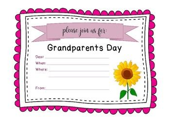 Grandparents Day And Grandparents And Special Friends Day Invitation Up Now On My Tpt Stud Grandparents Day Crafts Grandparents Day Preschool Preschool Crafts