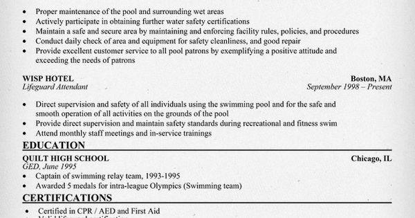 Disney Lifeguard Resume / Sales / Guard - Lewesmr - lifeguard resume description