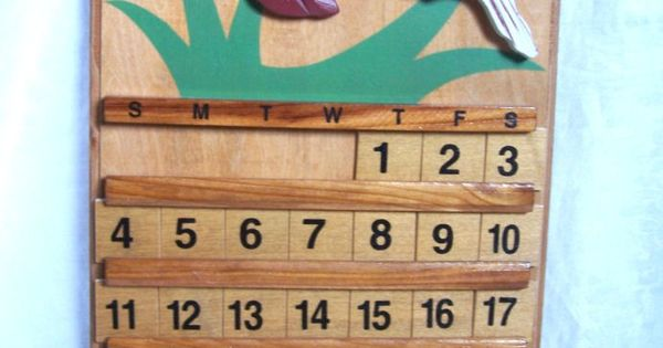 Vintage wooden perpetual calendar wall hanging by endlessc on etsy wishes pinterest - Wooden perpetual wall calendar ...