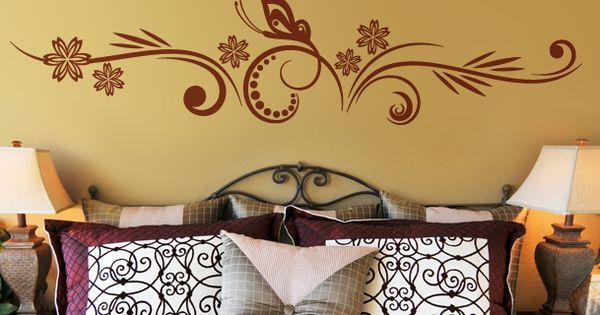 Bonito vinilo decorativo floral de orientaci n horizontal - Papelpintadoonline com vinilos decorativos ...