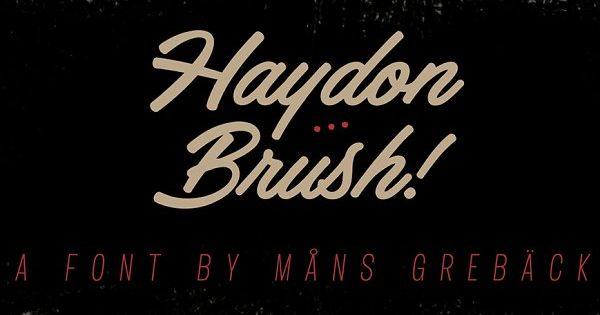 Haydon Brush by Mans Greback on @creativemarket