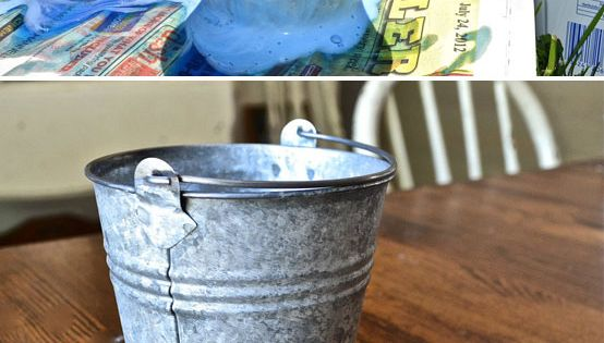 Aging Galvanized Metal With Lysol Toilet Bowl Cleaner