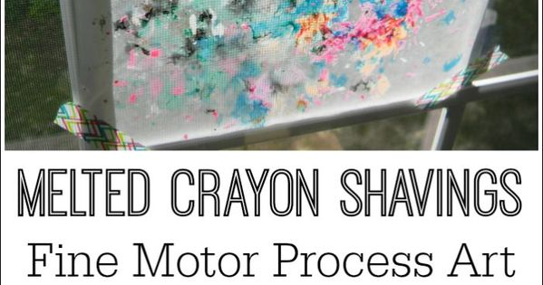 Melted Crayon Shavings Process Art Process Art Melted