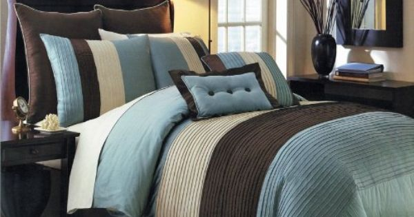 Blue Hudson Luxury 12 Piece Bedding Set By Royal Tradition