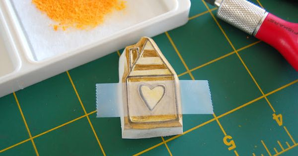 How to make ink pad from chalk pastel- what a creative idea
