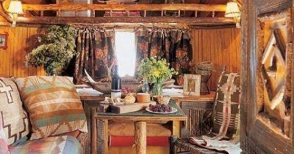 Western Cabin Decor | Airstream remodel, Trailer remodel ...