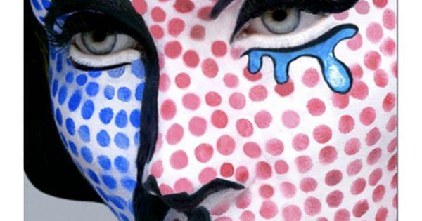 Righteous Roy Lichtenstein PopArt Halloween makeup