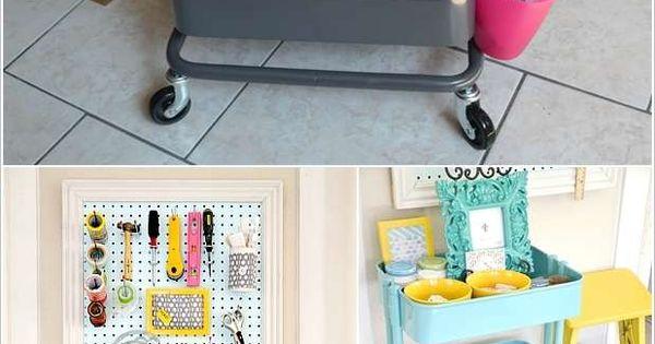 Ikea rolli als crafting storage putz wasch oder for Kinderzimmer organizer