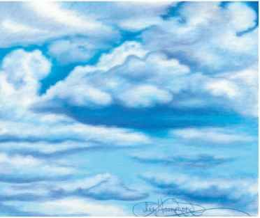 Build And Burnish The Colors Drawing In Colored Pencil Color Pencil Art Cloud Drawing Drawing Sky