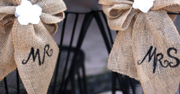 burlap wedding ideas 8 DIY Burlap and Lace Ideas for a Wedding