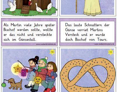 Neue lesekarten zu sankt martin zaubereinmaleins designblog deutsch als fremdsprache - Herbstideen kindergarten ...