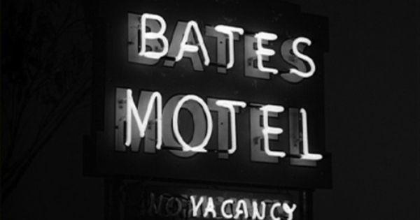 Back In Black Bates Motel Vacancy Psycho Hitchcock Movies