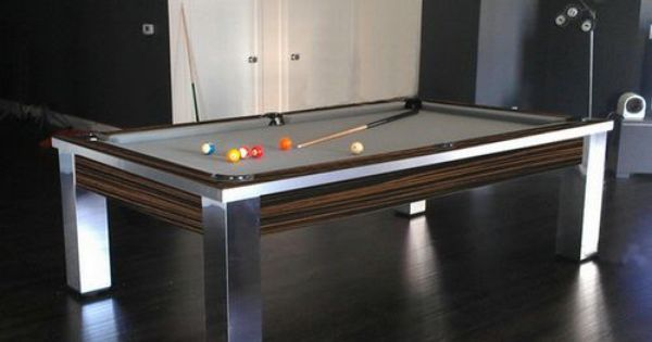 Contemporary Stainless Steel Pool Tables Pool Table Accessories