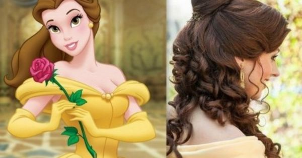 Coiffure Inspiration Disney Disney Hairstyles Belle Hairstyle Beauty And The Beast Wedding Theme