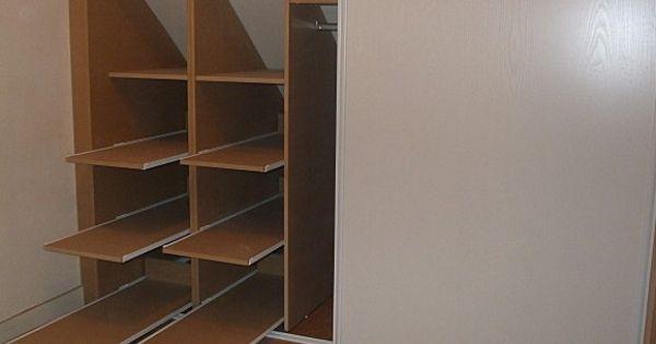 Rangement coulissant id es chambres pinterest - Tiroir coulissant sous escalier ...