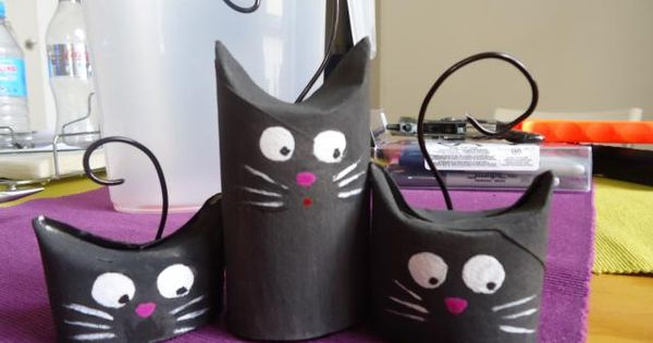 gatos de cart n cat crafts halloween black cat and. Black Bedroom Furniture Sets. Home Design Ideas