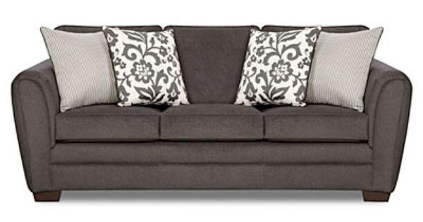 Flannel Charcoal Sofa
