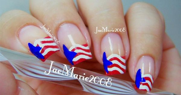 memorial day 2013 nail art by luvable nails
