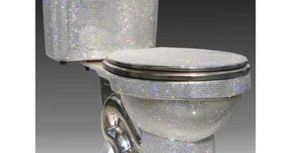 Shiny toilet action dictator chic pinterest bling - Swarovski badezimmer ...
