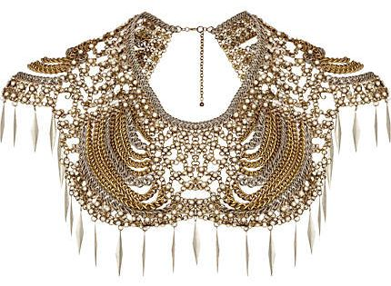 This statement necklace. Over a strapless gown. found on Polyvore featuring polyvore,