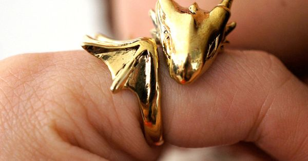 """Golden Dragon Ring """"I will name him Smaug and he will be"""